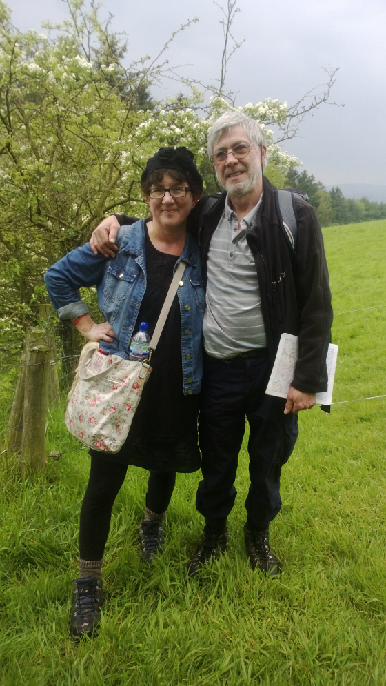 Debbie and her husband on their walk in Wales