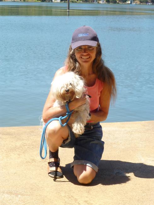 Me, holding Chicki