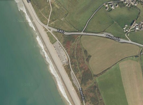 Are motorists experiencing the tragic figure of a young man haunting a road at Newgale?