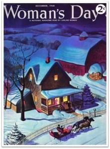 1940-Dec Womans Day Sleigh Snow