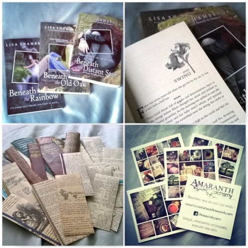 lisa shambrook books, hope within novels, amaranth alchemy, bookspine bookmarks, bookpage bookmarks,