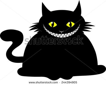 stock-vector-fat-black-cat-cartoon-vector-image-244394905